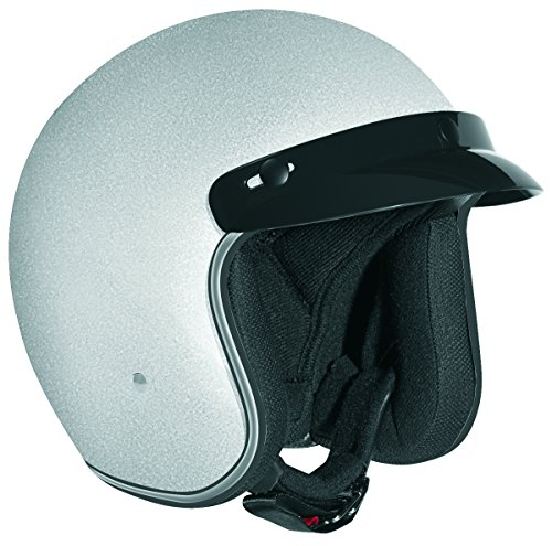 Vega 8500-112 X380 Open Face Helmet (Silver, Small)