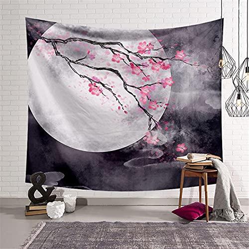 shuimanjinshan Tapiz Hippie de Pintura China para Acampar de Viaje, Alfombra para Dormir, decoración para Colgar en la Pared, Tapiz de decoración Boho 150(H) X230(An) Cm