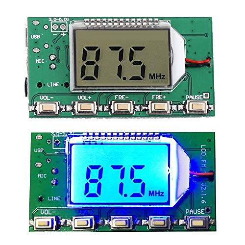 iHaospace Digital FM Transmitter Stereo Frequency Modulation DSP PLL 76.0-108.0MHz Wireless Module LCD Display