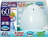 水性キンチョウリキッド 60日 無香料 エコ ミルキーブルーセット 1セット