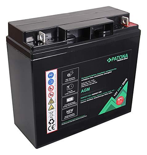 PATONA Premium AGM 12V 22Ah Blei Batterie VRLA Wartungsfrei 1800 Zyklen