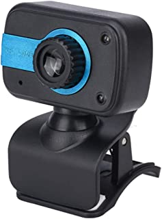 Anonyme 30 Degrees Adjustable Webcam USB Camera Video Recording Web Camera with Microphone Dark Blue