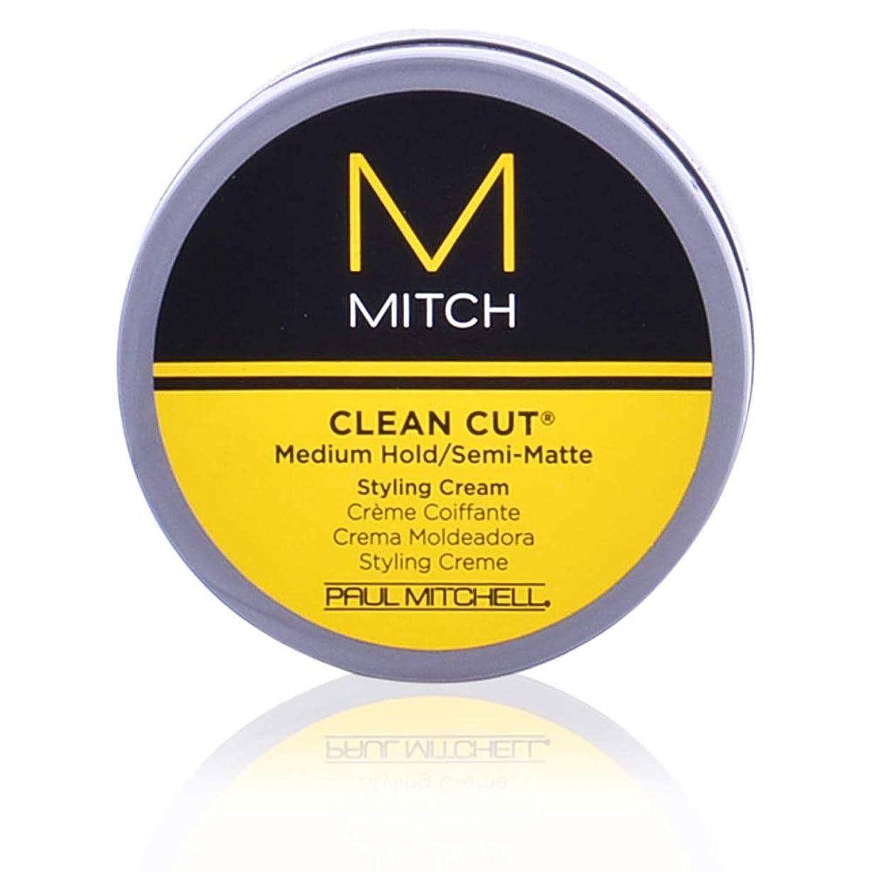 見てラリースカリーMitch Clean Cut Medium Hold/Semi-Matte Styling Cream