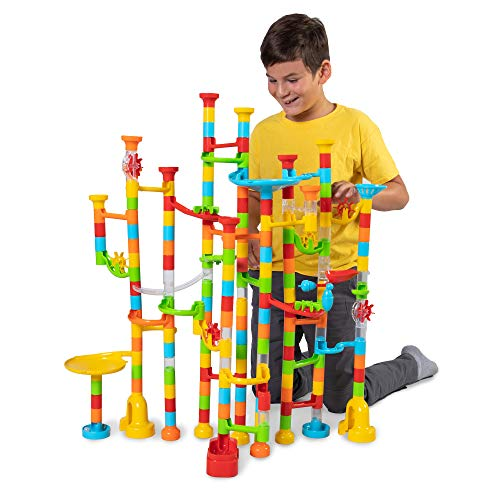 Fat Brain Toys 200 pc Mega Marble Run Marathon Building & Construction for Ages 6 to 10