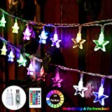 50 LED Bunt Lichterkette Sterne