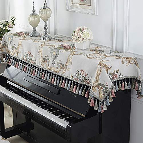 European Style Piano doek stofdicht volledige cover keyboard Electric Piano afdekking Cloth Art dubbele kruk afdekking