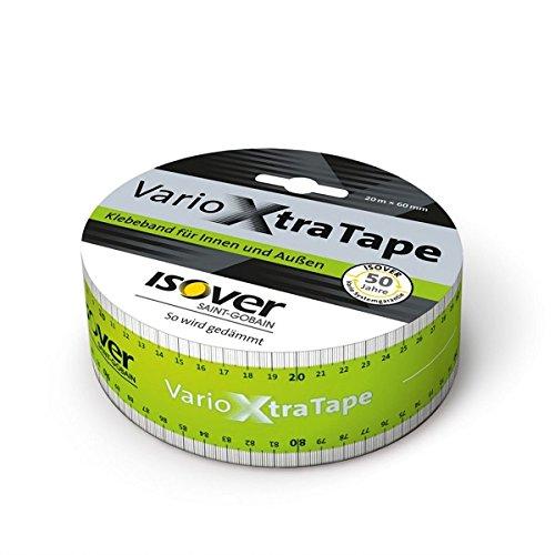 Isover Klebeband Vario Xtra Tape 20 m x 60 mm extra starke Dampfbremsen-Verklebung für innen und außen