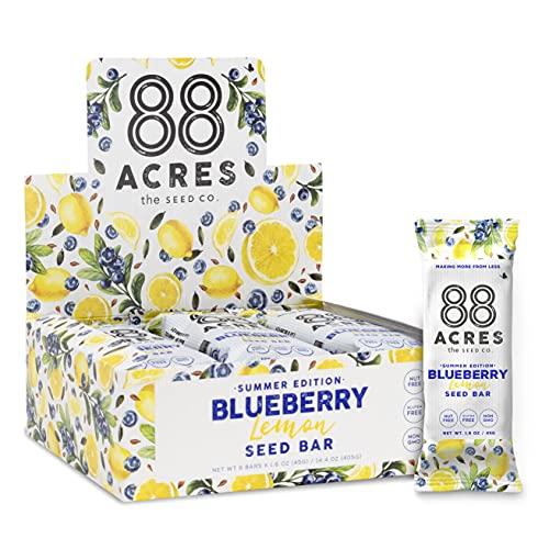 88 Acres Granola Bars   Blueberry Lemon   Gluten Free, Nut-Free Oat and Seed Granola Bar   Vegan & Always Non GMO   12 Pack