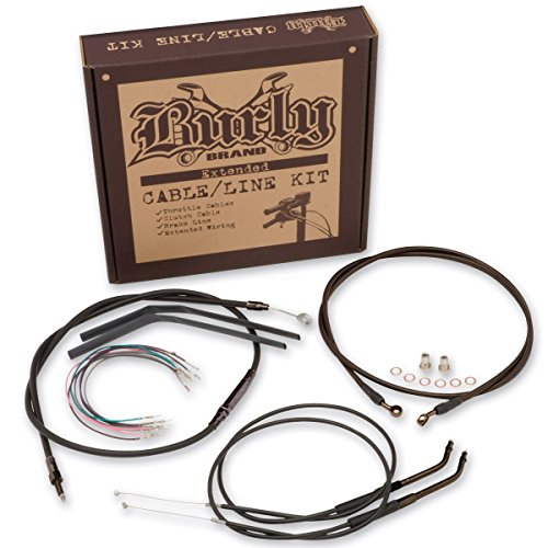 Burly Brand Black 16' Ape Hanger Cable/Brake Kit B30-1013