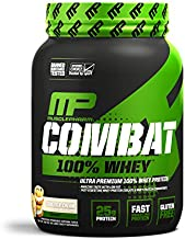 MusclePharm Combat 100% Whey, Muscle-Building Whey Protein Powder, 25 g of Ultra-Premium, Gluten-Free, Low-Fat Blend of Fast-Digesting Whey Protein, Cookies 'N' Cream, 2-Pound, 28 Servings