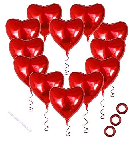 30 Palloncini a Forma di Cuore Rossi ad Elio o Aria,Palloncini Foil,per Decorazione Romantica, San Valentino, Palloncini Compleanno,Decorazioni per Matrimoni,Decorazione per Banchetti di Celebrazione