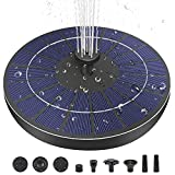 MADETEC Solar Fountain Upgraded 6-in-1 Nozzle, 3.5W Solar Powered with Battery Backup, Floating Fountain Pump with 6 Water Styles, Solar Fountain for Bird Bath, Pond, Fish Tank, Garden and Outdoor