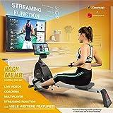 Sportstech RSX400 Rudergerät – Deutsche Qualitätsmarke -Video Events & Multiplayer APP, Pulsgurt inkl. –Rudermaschine für Ihr Zuhause, klappbar mit 8fach Magnetwiderstand und kugelgelagertem Sitz - 3