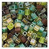 Best Beads Mixes - Beadaholique Miyuki 10gm Glass Cube Bead Mix, 4mm Review