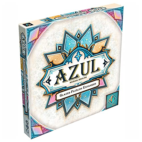 Azul Summer Pavilion Glazed Pavilion Board Game Expansion   Strategy Game   Family Board Game   Ages 8+   2-4 Players   Avg. Playtime 30-45 Minutes   Made by Next Move Games
