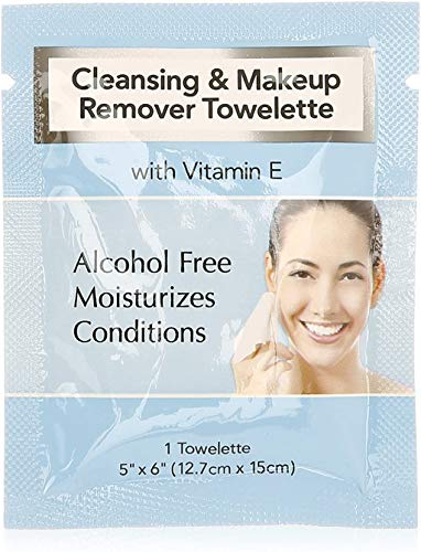 Diamond Facial Makeup Remover Wipes Ind. Wrapped 500/cs
