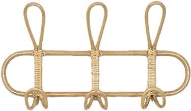 SBSNH Rattan Wall Hooks Kids Garments Organizer Rack Clothes Hat Hanging Hook Rattan Hanger Kids Room Decor Hanger