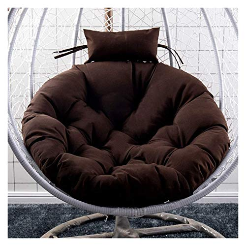 BDBT Swing Chair Cushion Hanging Rattan Swing Chair Pads, Patio Garden Chair Weave Egg with Cushion in or Outdoor (Color : Brown)