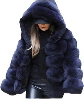Women Winter Furs Coat Jacket Luxury Faux Fox Fur Coat Slim Long Sleeve Collar Coat Faux Fur Coat Overcoat