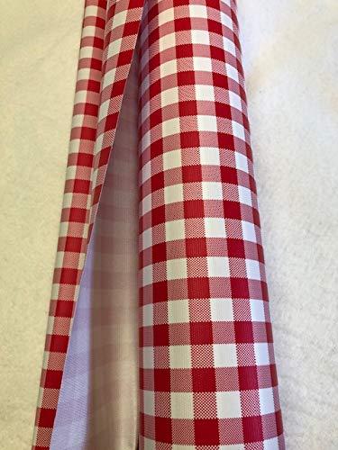 generique creadetex.com Nappe Vinyle Carreaux Vichy Rouge Toile ciree Impermeable au Metre Largeur 140 cm
