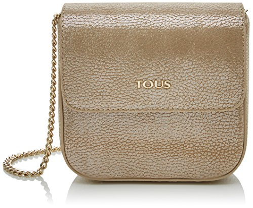 Tous 795900359, Bolso bandolera para Mujer, Dorado (Oro) 15.5x13.5x6.5 cm (W x...