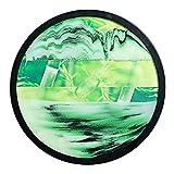 CKAN Pintura de Arena Que Fluye, Marco de Arena de Vidrio Redondo Pintura de Arena Que Fluye Decoración de Reloj de Arena 3D Pintura de Paisaje de Flujo Quicksand Deco