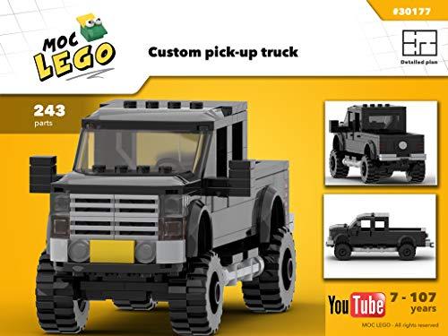 Custom pick-up truck (Instruction Only): MOC LEGO (English Edition)