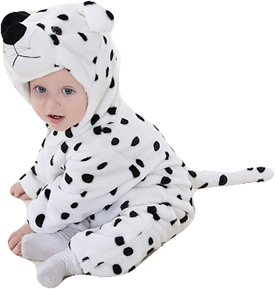 Unisex-Baby Flannel Romper Animal Onesie Pajamas Outfits Suit