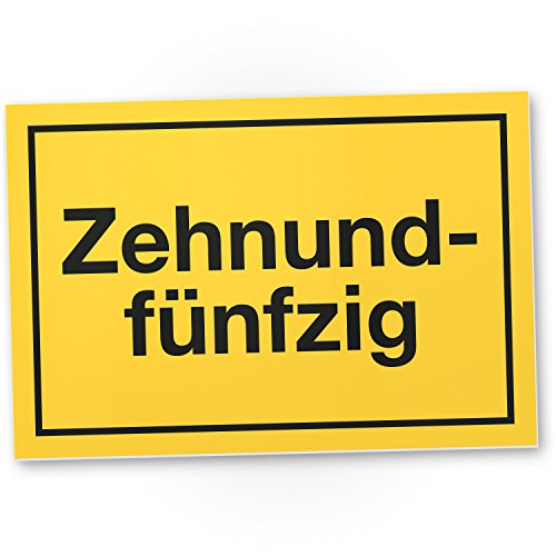 DankeDir! 60 Jahre - Zehnundfünfzig Kunststoff Schild - Geschenk 60. Geburtstag Geschenkidee Geburtstagsgeschenk Sechzigsten Geburtstagsdeko Partydeko Party Zubehör Geburtstagskarte