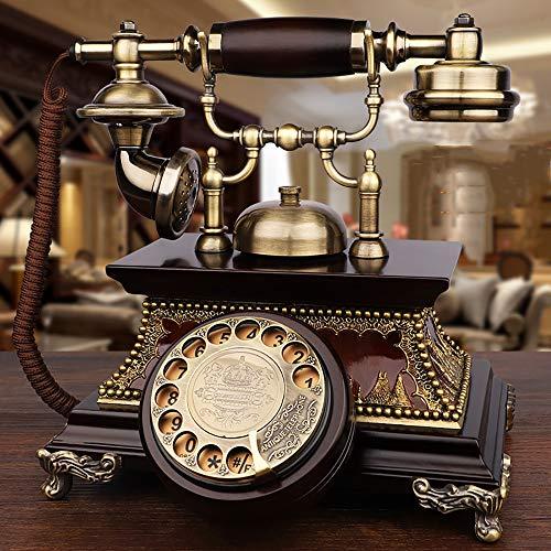 Timbre Mecánico De Teléfono Retro Y Timbre Electrónico Timbre Doble Teléfono De Casa Teléfono De Línea Fija, Adecuado para Sala De Estar, Oficina