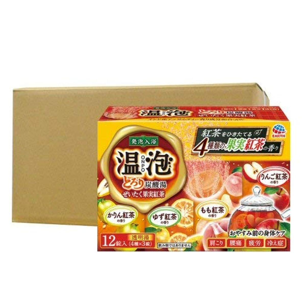病弱適応的対象温泡 ONPO とろり炭酸湯 ぜいたく果実紅茶 12錠入り×16個