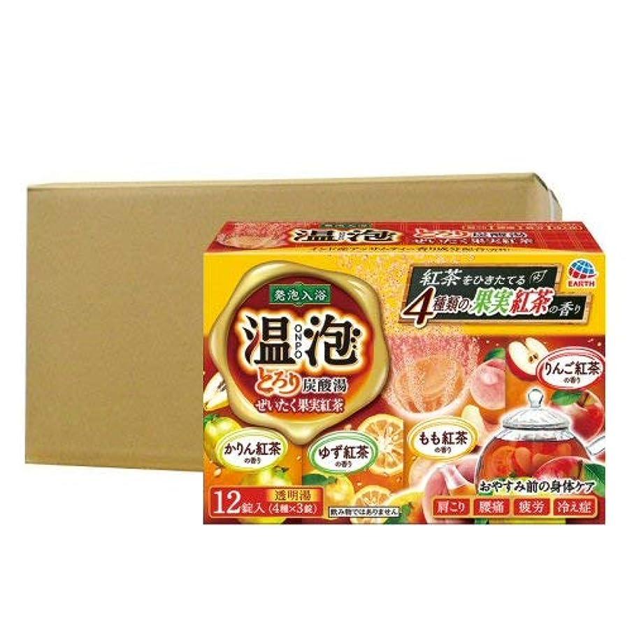 熟考する警報発生する温泡 ONPO とろり炭酸湯 ぜいたく果実紅茶 12錠入り×16個