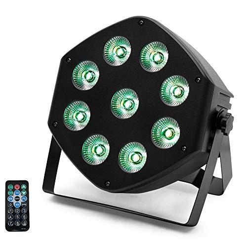 7 RGBW LED Par Licht,UKing LED Bühnenlicht mit DMX 7 Kanal/Auto/Sound-aktivierten Modi und 8 Lichteffekte für DJ Disco Wedding Church Hochzeitsfeier Lichter (Stil 3)