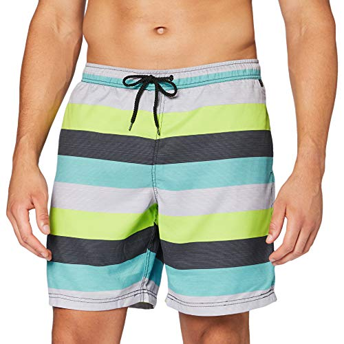 Firefly Short de Bain Ronny Bikini pour Hommes, Green Stripe, XL