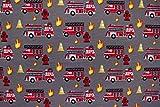 Baumwolljersey Feuerwehr, anthrazit