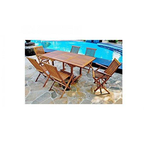 JFB Services Mein Fabrik teckrec6ph90cm4C2F-dj die Banten-Lounge Garten Teak geölt Braun 120x 90x 75cm