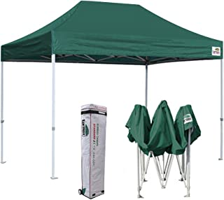 Eurmax 8 x 12 Ez Pop Up Canopy Party Tent Commercial Outdoor Instant Canopies Bonus Deluxe Wheeled Storage Bag (Forest Green)