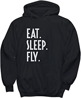 Eat. Sleep. Fly. - Pilot, Airline Flight Crew, Flying Captain – Unisex Hoodie