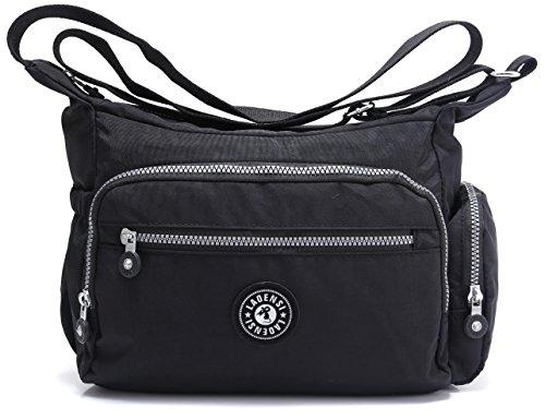 BEKILOLE Nylon Crossbody Purse Multi-Pocket Travel Shoulder Bag -...