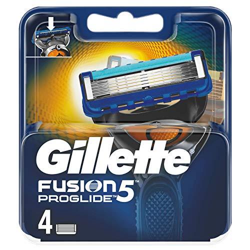 Gillette Fusion 5 Lames de rasoir avec tondeuse pour précision et revêtement lubrifiant 4 lames de rechange