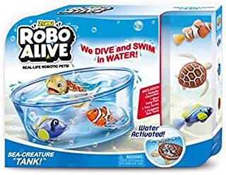 Zuru Robo Alive For Boys-Value Pack Fish and Turtle , nuisex , 3 years , 7106