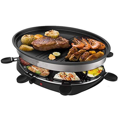 Parrilla eléctrica Raclettes Grill Mesa profesional de mesa para 8 personas con...