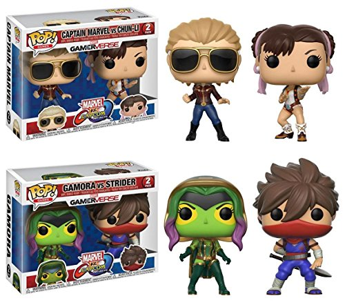 Funko POP! Marvel vs Capcom: Capitana Marvel vs Chun-Li + Gamora vs Strider