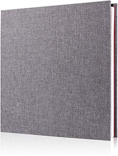 Minlna Fotoalbum Sammelalbum Leinen Kunst mit Schutzfolie Bilder dauerhaft speichern, Speicherbuch, Es hat 40 Seiten, 11