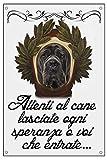 LOVELYTILES Cane Corso ATTENTI al Cane Dante Alighieri Lasciate Ogni Speranza Voi Che ENTRATE Idea Regalo (15X20)