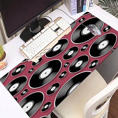 Alfombrilla Gaming para PC Audio Retro Objeto Pop Música Vintage Dj Plate Disco de vinilo Álbum Disco digital Disco M Máxima Precisión con Cualquier Ratón, Base de Caucho Natural, Máxima Comodidad