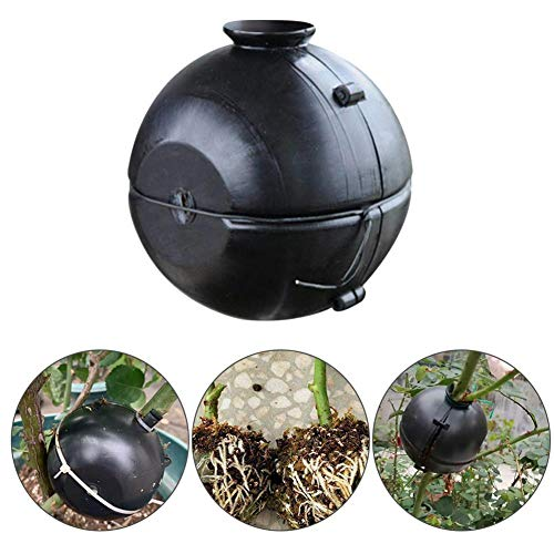 Eillybird Assisted Cutting Rooting Pflanzenwurzelgerät Hochdruck-Ausbreitungsball, Pflanzenvermehrungs-Luftschicht-Pod Hochdruck-Box-Pfropfung für die Gartenzucht Schwarz