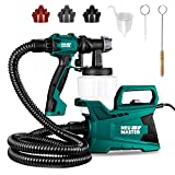 Paint Sprayer, NEU MASTER 600 Watt High Power HVLP Home Electric Paint Spray Gun with 3 Spray Patterns and Adjustable Valve Knob for Painting Ceiling, Fence, Cabinets
