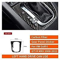 VWゴルフ6 GTI R MK6 2008-12カーボンファイバーステアリングホイールギヤのドアパネル内部ステッカーインテリアアクセサリーカースタイリング (Color Name : Gear panel B)