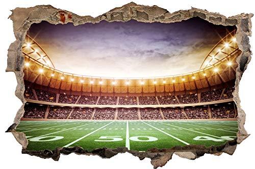 DesFoli American Football Stadion Feld Wandtattoo Wandsticker Wandaufkleber D2967 Größe 60 cm x 90 cm